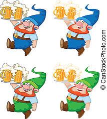 marche, bière, gnome