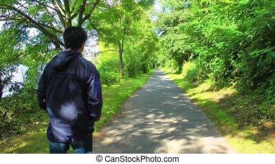 marche, homme, nature