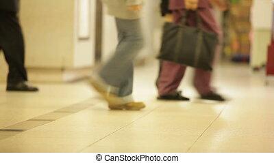 marche, métro, salle