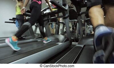 marche, sien, but, pas, athlètes, -, sur, leur, jour, régulier, préparer, ils, aller, premier, tapis roulant, exercice, plus