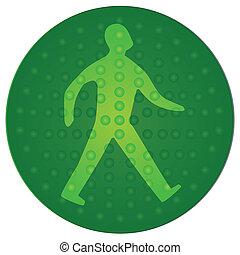 marche, vert, homme