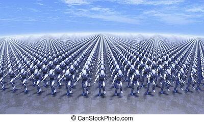 marcher, robots