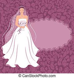 mariée, bouquet.