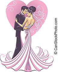 mariée, fiancé