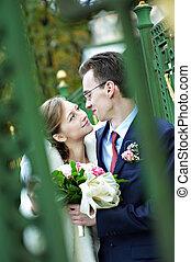 mariée, mariage, palefrenier, promenade