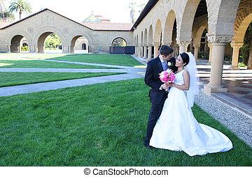 mariée, palefrenier, mariage