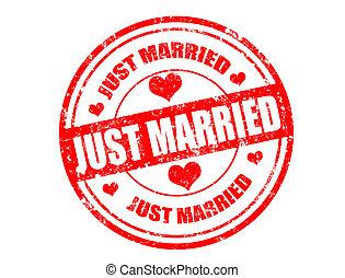 mariés, juste, timbre