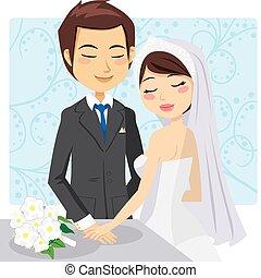 mariés, juste