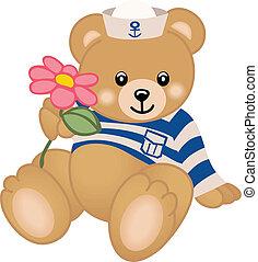 marin, teddy, offres, fleur