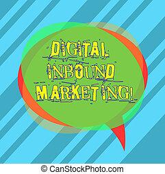 marketing., business, consommateurs, bulle, inbound, photo, projection, numérique, pile, overlapping., écriture, note, automne, parole, vide, showcasing, cercle, attirer, transparent, cible