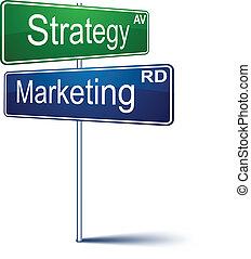 marketing-strategy, signe., direction
