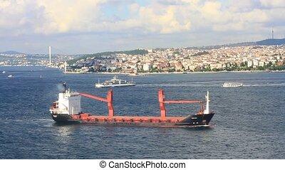 marmara, bateau, voiles, mer, cargaison