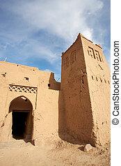 maroc, vieux, désert, forteresse