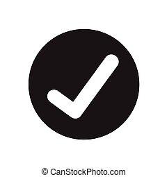 marque, conception, chèque, illustration, icône