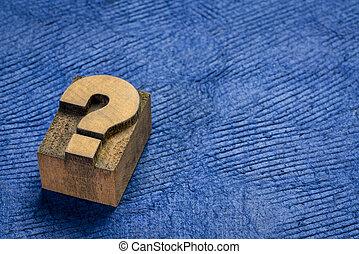 marque, question, vendange, bloc, impression, letterpress