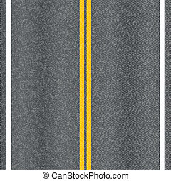 marquer, asphalte, lines., vecteur, texture, route