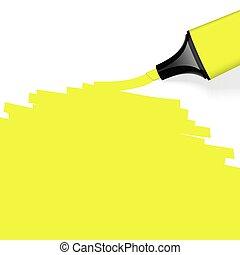 marquer, coloré, highlighter