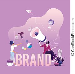 marquer, marque, -, concept, campagne, conscience, commercialisation, business