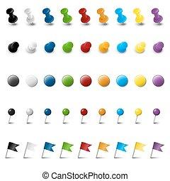 marquer, neuf, coloré, collection, accessoires