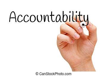 marqueur, accountability, noir