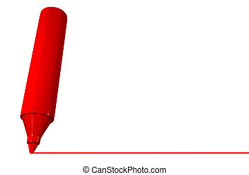 marqueur, dessin ligne, rouges
