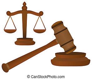 marteau, balances, justice