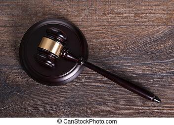 marteau, juge, table