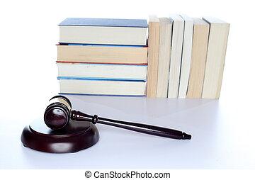 marteau, livre, symbolique, droit & loi
