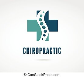 masage, douleur, dos, osteopathy, icône, chiropraxie