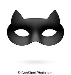 mascarade, oeil poché, masque, chat