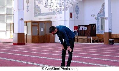 masqué, worshiped, jeunesse, mosquée