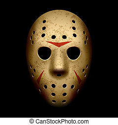 masque effrayant, hockey