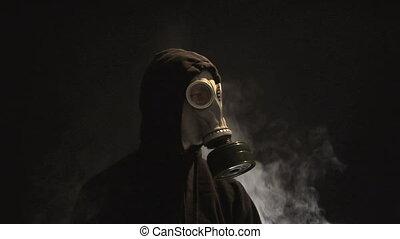 masque gaz, homme