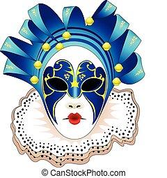 masque, illustration, vecteur, carnaval