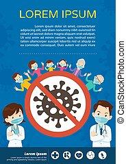 masque, monde médical, protecteur, docteur, coronavirus, famille, grand-père, porter, covid-19