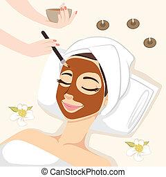 masque, traitement, chocolat
