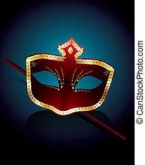 masque vénitien, rouges