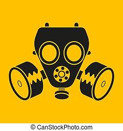 masque, vecteur, conception, desktop., chimique, toile, icône, essence, attack.