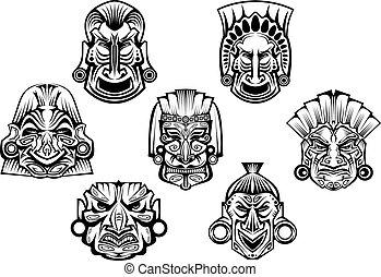 masques, religieux, tribal, ancien