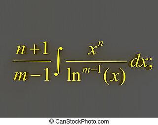 mathématique, formulas.