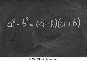 mathématique, simple, formule, tableau noir