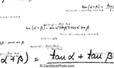 maths, équation, trigonométrie, boucle