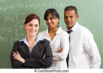maths, confiant, profs