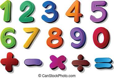 maths, symboles, nombres