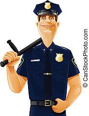matraque, policier