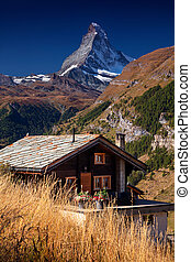 matterhorn, suisse, alps.