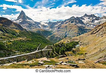 matterhorn, zermatt, alpes, suisse