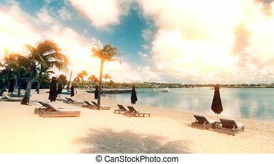 mauritius., ocean., littoral, île
