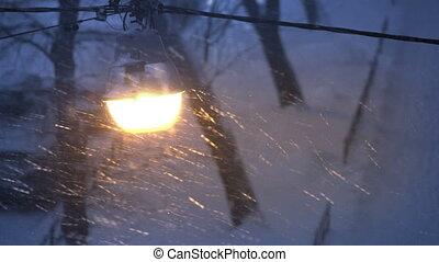 mauvais coup, lights., 4k, nuit, temps, nuit, neiger, mouillé, snow., pluie, uhd, ville, réflexions
