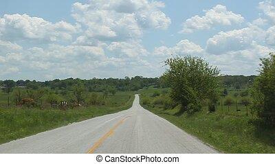 me, maison, prendre, routes, pays